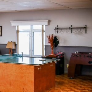 Rehabilitation center ping pong table at Valley Hope Norton